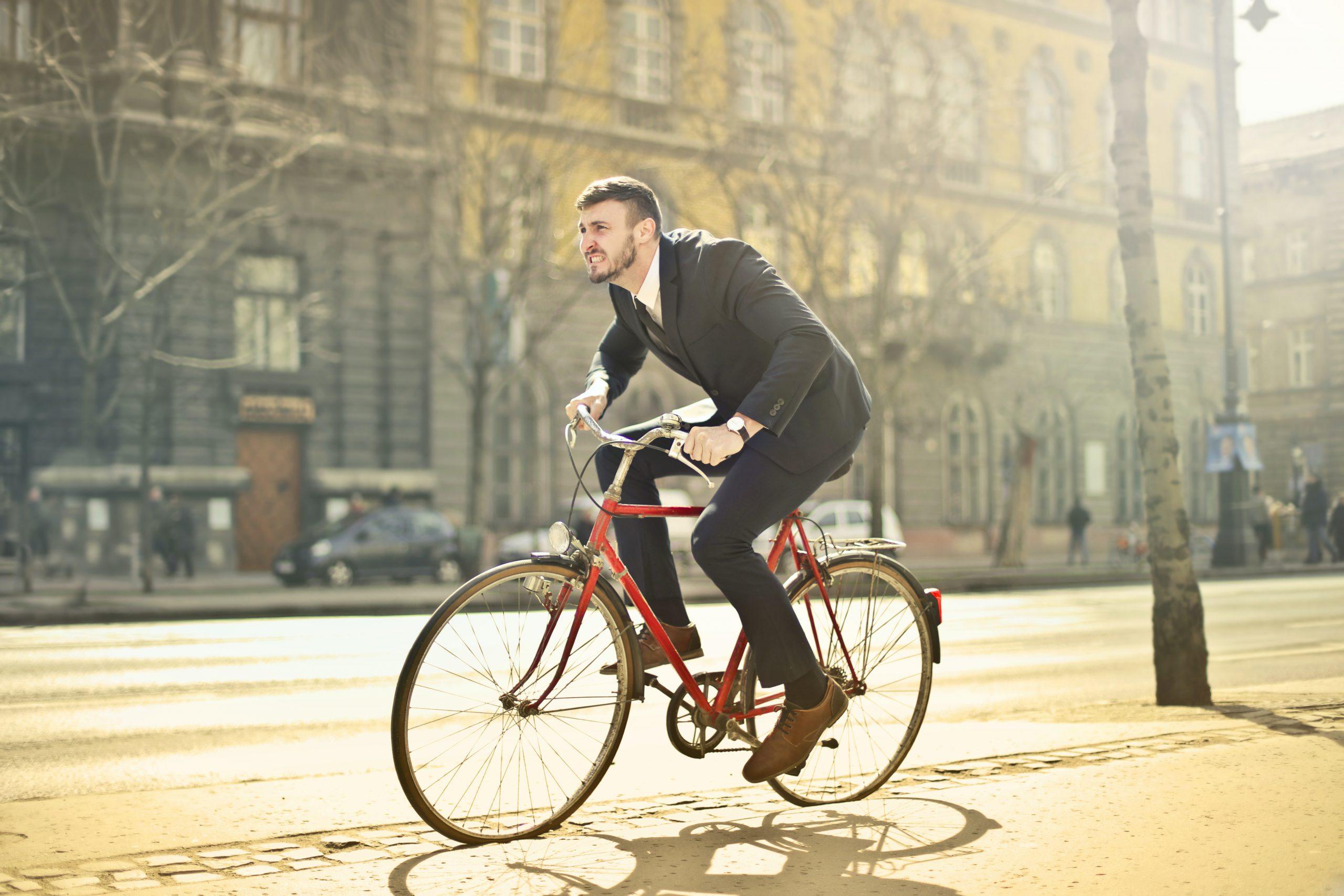 redenen op de fiets naar werk